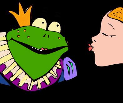 inventare favole - ranocchio e principessa