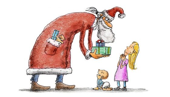 babo natale con regali